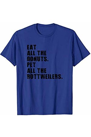 Swesly Dog Eat All The Donuts Pet All The Rottweilers ADB106h T-Shirt
