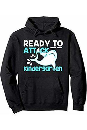 Envy Design Back To School Apparel Attack Kindergarten Shark Back To School Boys Gift Kids Pullover Hoodie