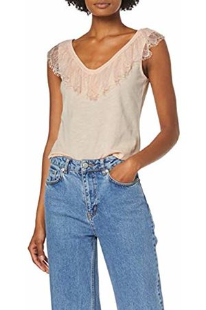 Dorothy Perkins Women's V Frill Lace Sleeveless Vest Blush Top, 155
