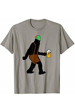 Hadley Designs Bigfoot Lederhosen Beer Oktoberfest German drinking gift T-Shirt
