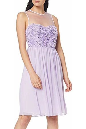 Apart Women Party Dresses - Women's Chiffon Dress with Flowers Party, Lavender
