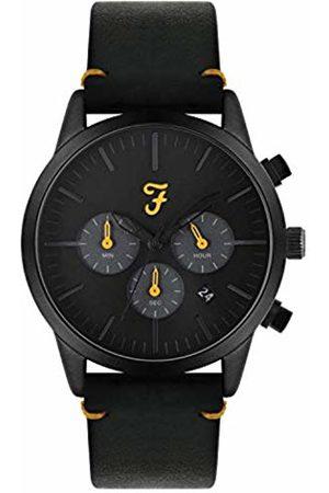 Farah Unisex Adult Analogue Classic Quartz Watch with Leather Strap FAR2010