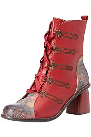 LAURA VITA Women's Evcao 01 Ankle Boots, (Rouge)