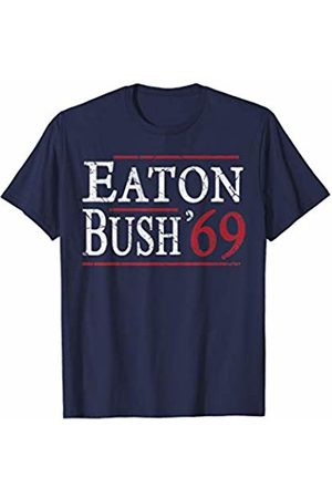Tee Styley Eaton Bush 69 Funny Humor Election Reagan Parody Couples T-Shirt