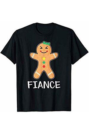 Gingerbread Couple Matching Shirts Men T-shirts - Gingerbread Fiancee T-Shirt Family Halloween Xmas Pajamas