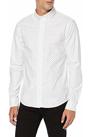 Scotch&Soda Men's Regular Fit- Classic Oxford Shirt with All-Over Print Casual, ((Combo F 0222)