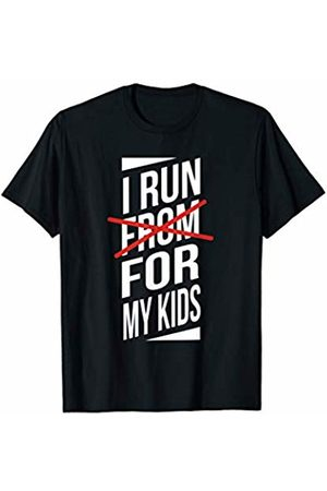 10K Mama I Run For My Kids Funny Sarcastic Running T-Shirt