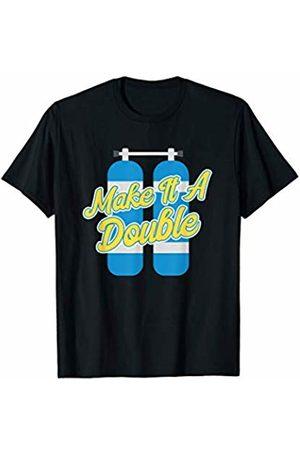 Uinta Trading Scuba Tees Scuba Diving Make It A Double Oxygen Tank Diver T-Shirt