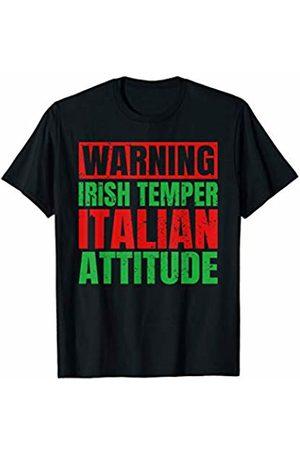 That's Life Brand WARNING IRISH TEMPER ITALIAN ATTITUDE T SHIRT