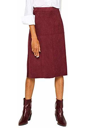 Esprit Women's 089ee1d007 Skirt, (Bordeaux 600)