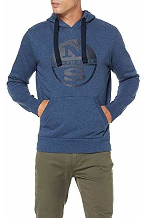 North Sails Men's Hooded Sweat W/Graphic Kniited Tank Top, Denim 797.0