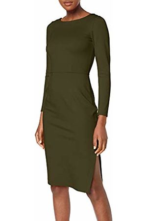 Closet Women's Long Sleeve Knee Lenght Bodycon Dress Party, Khaki