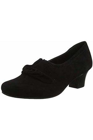 Hotter Women Heels - Women's Donna Closed Toe Heels, (Jet Brogue 394)