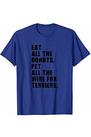 Swesly Dog Eat All The Donuts Pet All The Wire Fox Terriers ADB155h T-Shirt