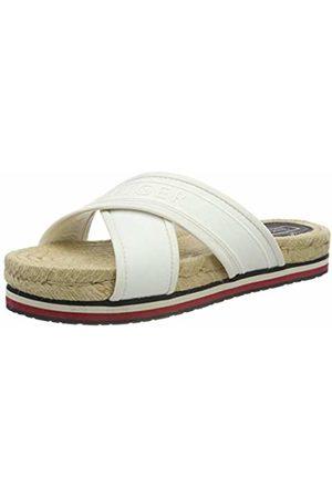 Tommy Hilfiger Women's Colorful Tommy Flat Sandal Open Toe (Whisper 121)