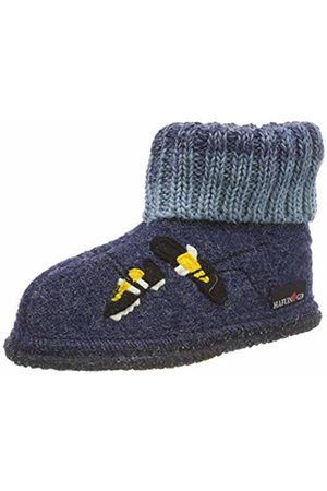 Haflinger Slippers - Unisex Kids' Hüttenschuh Basti Open Back Slippers