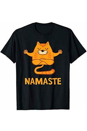 Cat Yoga Namaste T-shirts - Cat Yoga Meditation Namaste T-Shirt
