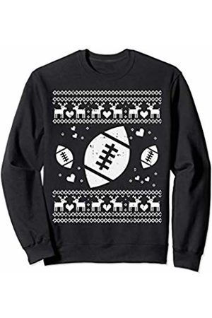 BoredKoalas Football Ugly Christmas Ball Sport Player Boy Gift Sweatshirt