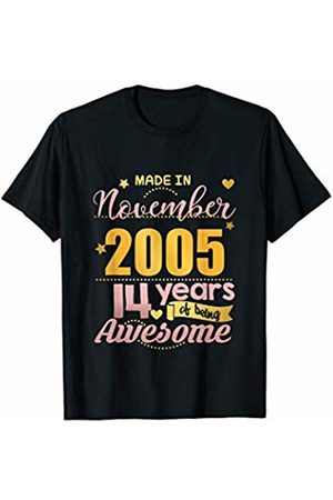 14th Birthday Boys Girls Age 14 Gifts 14th Birthday Gift Daughter Niece 14 Year Old Girls November T-Shirt