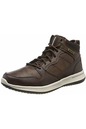 Skechers Men's DELSON Classic Boots, Leather Chocolate