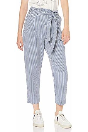 Koton Women's Damenhose in Maritinem Stripelook Trouser