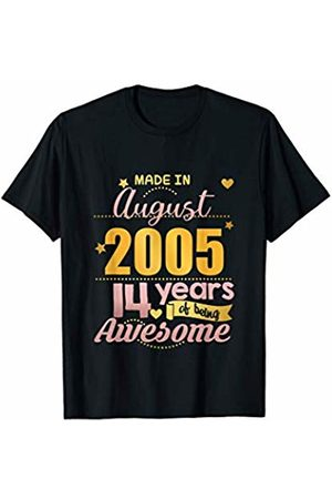 14th Birthday Boys Girls Age 14 Gifts 14th Birthday Gifts Daughter Niece 14 Year Old Girls August T-Shirt