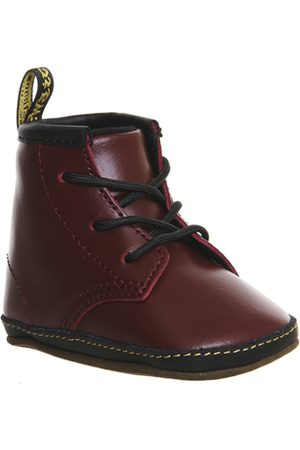 Office Dr. Martens Auburn Crib Booties CHERRY LEATHER