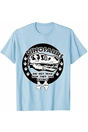 Back To School Apparel by BUBL TEES Dinosaurs Didn't Read Gift for Readers T-Shirt