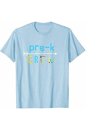 Back To School Apparel by BUBL TEES Pre K Crew Preschool Teacher Back To School T-Shirt