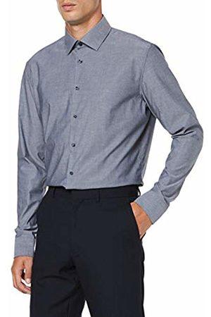 Seidensticker Men's Slim Fit Extra Langer Arm mit Business Kent-Kragen Bügelfrei Uni-100% Baumwolle Formal Shirt