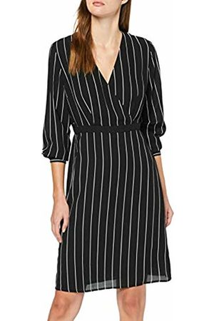 Selected Femme NOS Women's Slfdaniella Ls AOP Dress B ( Stripes: Creme-Dynella)