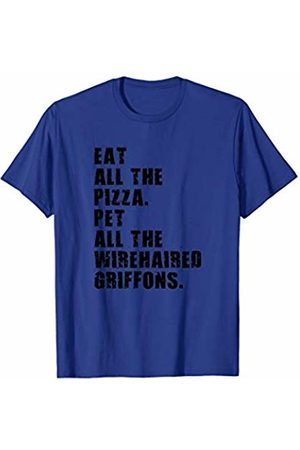 Swesly Dog Eat All The Pizza Pet All The Wirehaired Griffons ADB056i T-Shirt