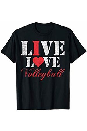 Volleyball Loves Shirt Gift Live Love Volleyball T-Shirt Funny I Lover Sports Cool Gift T-Shirt