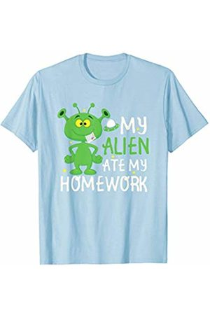 Back To School Apparel by BUBL TEES My Alien Ate My Homework Cool Back To School T-Shirt