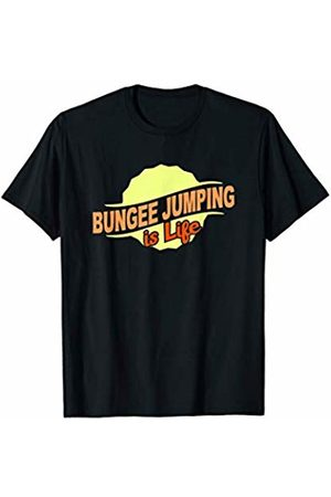 Gifts and Gear For Athletes Bungee Jumping Is Life Cool Sports Lover Athlete Competitor T-Shirt
