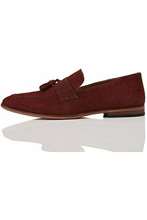 FIND Suede Loafers, Rot Burgundy)