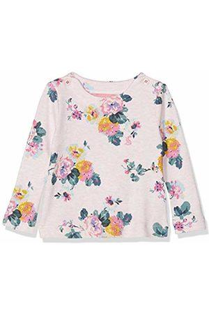 Joules Baby Girls' Harbour Print Longsleeve T - Shirt, Marl Skelwith Pnkmrlskel