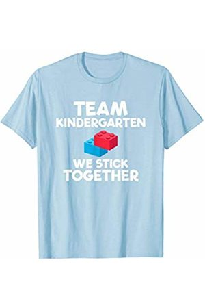 Back To School Apparel by BUBL TEES Team Kindergarten Brick Building Block Back To School T-Shirt