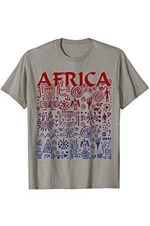 EDDArt Traditional African Folklore Symbols Pattern 4 - Fan Fun T-Shirt