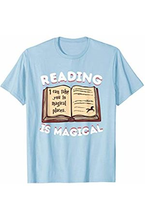 Back To School Apparel by BUBL TEES Reading Is Magical It Can Take You To Magical Places T-Shirt
