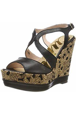 CUPLÉ Women's 000375-012-0001 Platform Sandals, (Negro 0001)