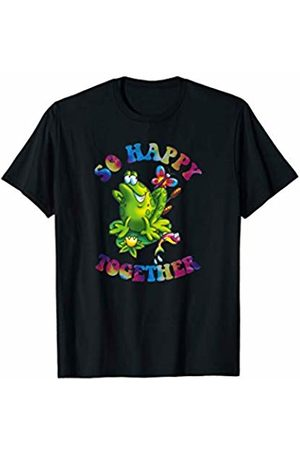 Hippie Graphic Tees Hippie Frog So Happy Together T-Shirt