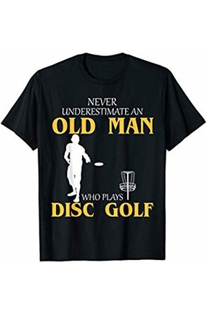 Disc Golf Loves Shirt Gift Disc Golf Frolfing Old Man T-Shirt Funny Cool Gift T-Shirt