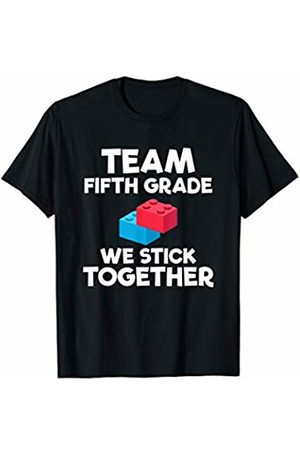 Back To School Apparel by BUBL TEES Team Fifth Grade Brick Building Block Back To School T-Shirt