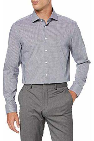 Seidensticker Men's Slim Fit Langarm mit Spread Kent Kragen Bügelfrei Kariert-100% Baumwolle Formal Shirt
