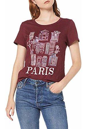 Esprit Women's 089ee1k031 T-Shirt, (Garnet 620)