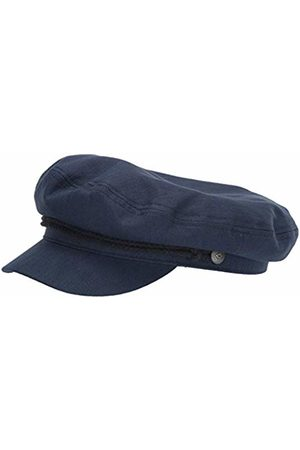 Brixton Men's Fiddler Greek Fisherman HAT Newsie Cap, Washed Dark Navy