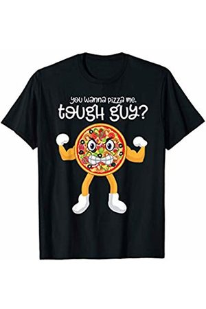 Workout SpecialTee Co. You Wanna Pizza Me Tough Guy Funny Gym Gift Pizza Workout T-Shirt