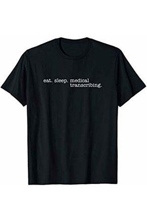 Eat Sleep Swag Women T-shirts - Eat Sleep Medical Transcribing T-Shirt