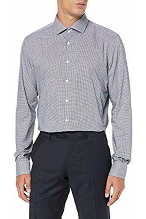 Seidensticker Men's Slim Fit Extra Langer Arm mit Spread Kent-Kragen Bügelfrei Kariert-100% Baumwolle Formal Shirt